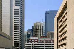 Dallas downtown city urban view with buildings