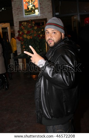 DALLAS - FEBRUARY 12: After attending 'Diddy Does Dallas' Producer/Rapper DJ Khaled departs the Palladium Ballroom during NBA All Star Weekend February 12, 2010 in Dallas, Texas.