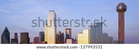 Dallas skyline in Texas