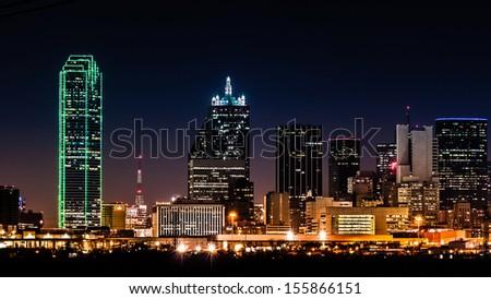 Dallas, Texas - February 15: Dallas Skyline On February 15, 2011 In Dallas, Texas.