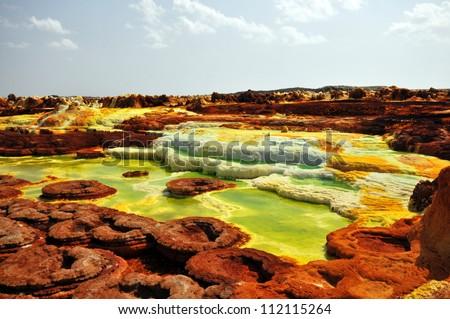 Dallol, Colorful vulcano in Danakil dessert