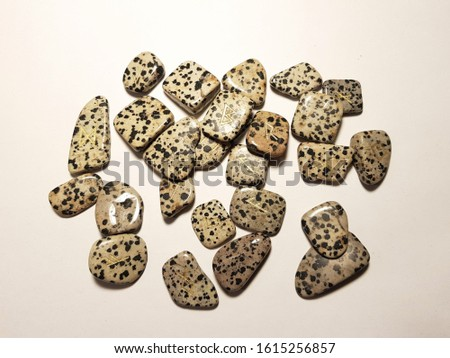 Dalmatian Jasper Runes on white background