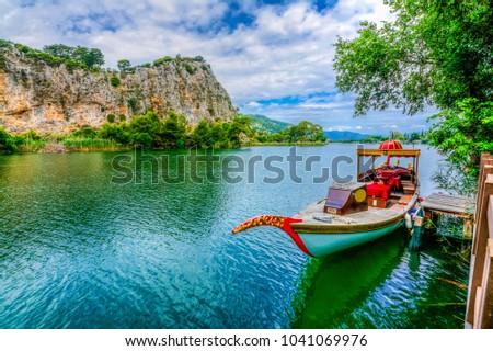 Dalyan canal view. Dalyan is populer tourist destination in Turkey.