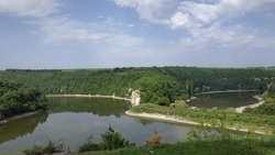 Dam and a lake in park Kailuka, Pleven, Bulgaria