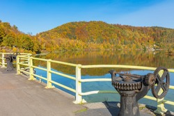 Dam and Pilchowickie Lake. Lower Silesia, Poland.