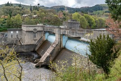 Dam and powerstation in Pitlochry Scotland
