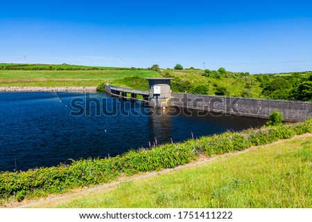 Photo of  Dam at Drift Reservoir supplies water to much of West Cornwall England UK Europe