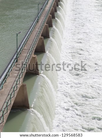 dam construction on river