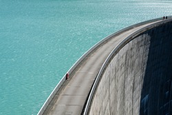Dam in the austrian alps, Austria, Europe