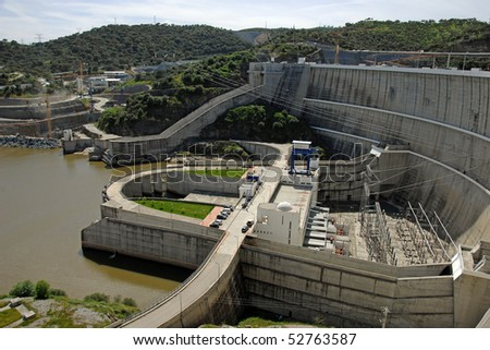Dam of a hydroelectric power station barrage