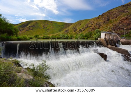 Dam on the mountain river
