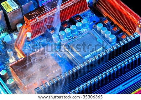 damaged electronic pc component #35306365