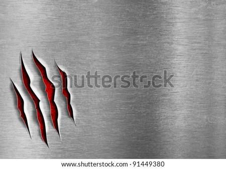 Damaged grunge metal plate concept