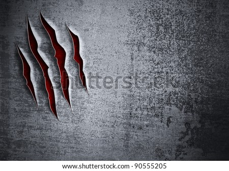 Damaged grunge metal wall concept