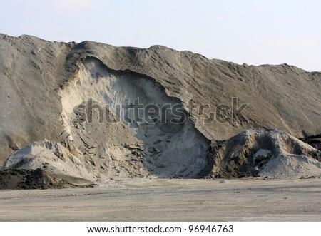 Damaged landscape after ore mining. - stock photo