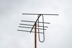 Damaged old Yagi TV antenna