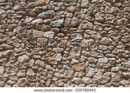 Damaged vintage stone wall pattern background