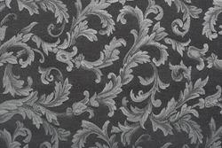 Damask, black fabric texture background
