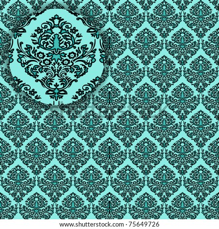 damask detailed seamless texture, abstract art illustration