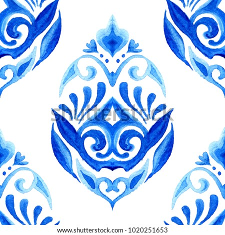 damask hand drawn floral design....