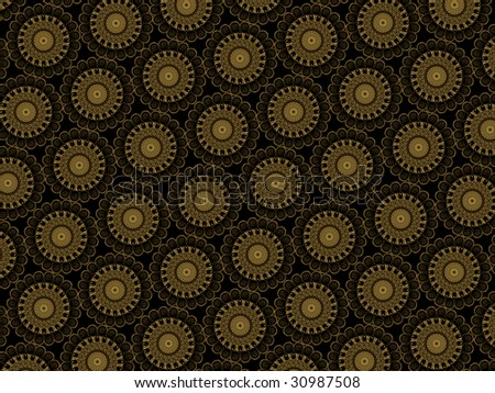 Vector black, red and gold floral background with pattern - Stock