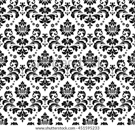Damask seamless floral pattern royal wallpaper flowers on a damask seamless floral pattern royal wallpaper flowers on a transparent background black and mightylinksfo