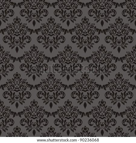 Damask seamless floral pattern. Vintage illustration.