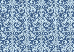 Damask seamless pattern background. Classical luxury old fashioned damascus ornament, royal victorian seamless texture for wallpapers, textile, wrapping. Exquisite floral baroque template design.