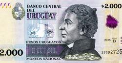 Damaso Antonio Larranaga, Portrait from Uruguay 2,000 Pesos Uruguayos 2015 Banknotes.