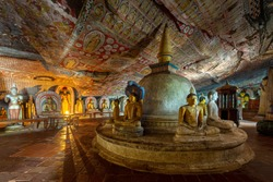 Dambulla historical cave temple in Sri Lanka
