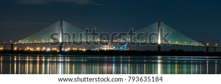 Dames Point bridge at night
