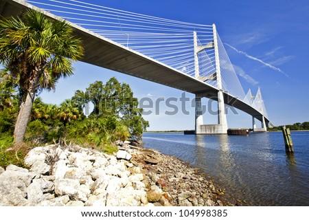 Dames Point Bridge FL-9A Saint John's River Crossing At Jacksonville