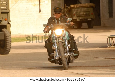 """Damian Chapa on the set of the first day of shooting """"Marlon Brando Unauthorized,"""" Private Location, San Pedro, CA. 06-27-10"""