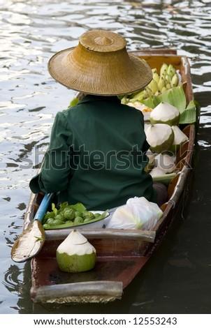 Damnoen Saduak Floating Market Boat, Bangkok, Thailand