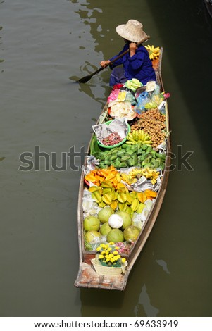 Damnoen saduak Floating Market, Thailand.