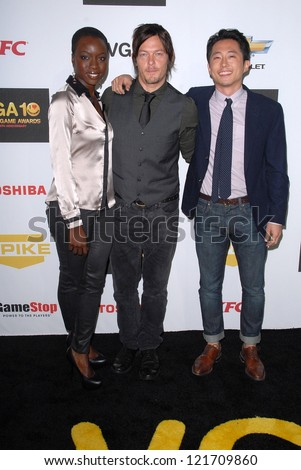 Danai Gurira, Norman Reedus, Steven Yeun at Spike TV's 10th annual Video Game Awards at Sony Studios on December 7, 2012 in, California