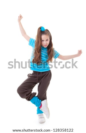 dance child dancing and balance - stock photo