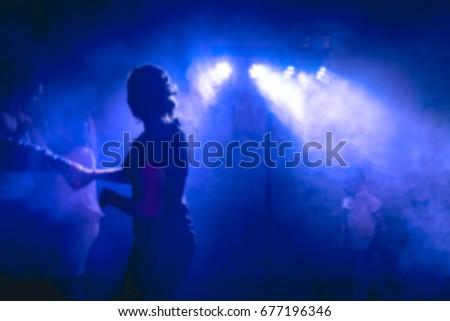 Dance floor, disco lights, party time #677196346