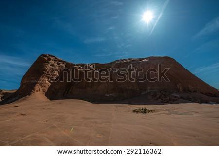 Dance Hall Rock, a large sandstone amphitheater utah landscape