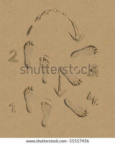 Dance Step Footprints