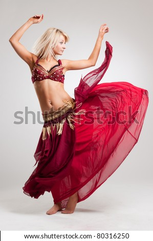 Dance with passion, studio isolated shot over white background