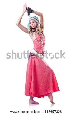 Dancer dancing spanish dances - stock photo