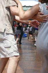 Dancers enjoy cajun zydeco music at the Waterfront Blues Festival, Portland, Oregon