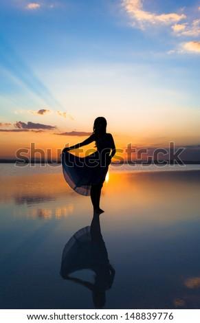 Dancing at sunset #148839776
