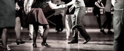 dancing at the swing music party