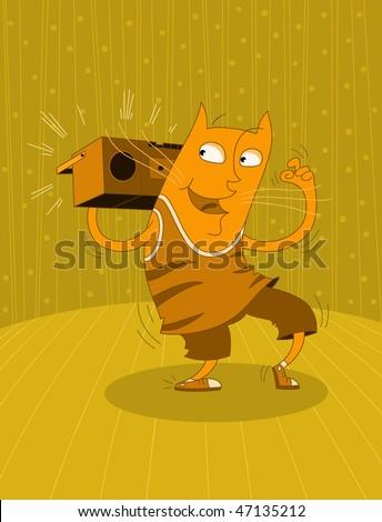 Dancing cat - raster