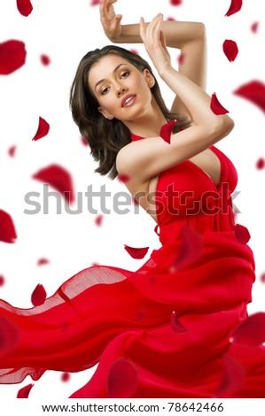 dancing girl in a beautiful dress