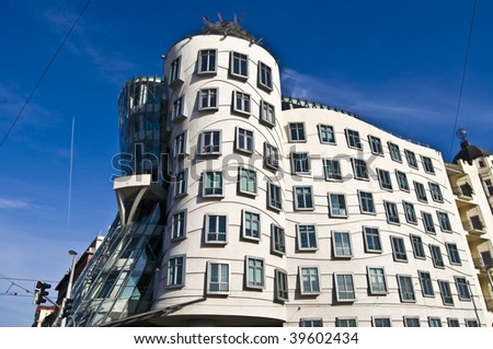 dancing house called Ginger and Fred in Prague