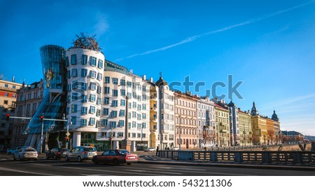 Dancing house in Prague, Czech Republic. #543211306
