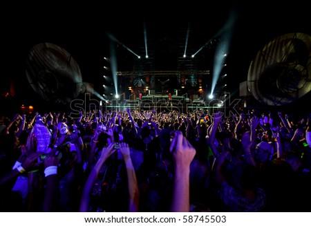 dancing people in nightclub